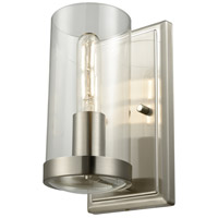 DVI DVP9099BN-CL Erin 1 Light 5 inch Buffed Nickel ADA Sconce Wall Light