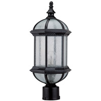DVI OCA1304BK Hexagon 1 Light 18 inch Black Outdoor Post Top