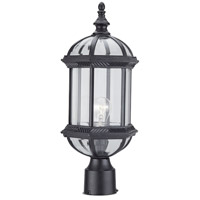 DVI OCA140804BK Hexagon 1 Light 18 inch Black Outdoor Post Top