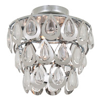 DVI Lighting Bliss 3 Light Semi Flush Mount in Chrome with Clear Optic Glass DVP0311CH-CRY