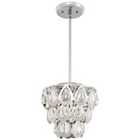 DVI Lighting Bliss 3 Light Mini Pendant in Chrome with Clear Optic Glass DVP0321CH-CRY