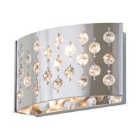 DVI Lighting Moonguard 1 Light Wall Sconce in Chrome with Clear Optic Glass Inserts DVP0401CH-CRY