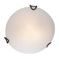 DVI Lighting Solstice 2 Light Flush Mount in Graphite with Half Opal Glass DVP0512GR-OP