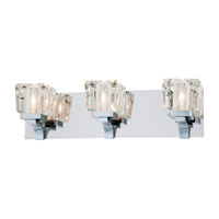 Beausoleil 3 Light 21 inch Chrome Bathroom Vanity Wall Light