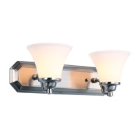 DVI Lighting Valletta 2 Light Bathroom Vanity in Chrome with Half Opal Glass DVP0822CH-OP