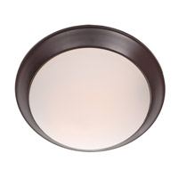 DVI Lighting Valletta 1 Light Flush Mount in Mocha with Half Opal Glass DVP0832MO-OP
