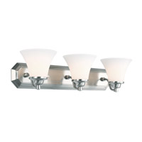 DVI Lighting Valletta 3 Light Bathroom Vanity in Chrome with Half Opal Glass DVP0843CH-OP