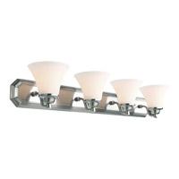 DVI Lighting Valletta 4 Light Bathroom Vanity in Chrome with Half Opal Glass DVP0844CH-OP