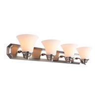 DVI Lighting Valletta 4 Light Bathroom Vanity in Satin Nickel with Half Opal Glass DVP0844SN-OP