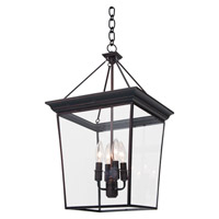 DVI Lighting Forest Hill 4 Light Semi Flush Pendant Convertible in Oil Rubbed Bronze with Clear Glass DVP1010ORB