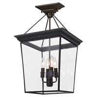DVI Lighting Forest Hill 4 Light Pendant in Oil Rubbed Bronze with Clear Glass DVP1011ORB