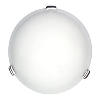 DVI Lighting Treviso 2 Light Flush Mount in Satin Nickel with Opal Glass DVP1032SN-OP
