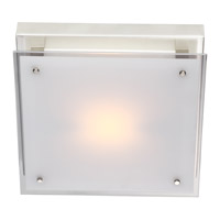 DVI Lighting Helios 1 Light Flush Mount in Chrome with Silk Screened White Glass DVP10331CH-SSW