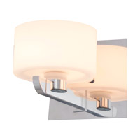 DVI Lighting Haida 1 Light Wall Sconce in Chrome with Half Opal Glass DVP10501CH-OP
