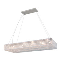 DVI Lighting Helsinki 12 Light Linear Pendant in Chrome with Clear Crystals DVP10702CH-CRY