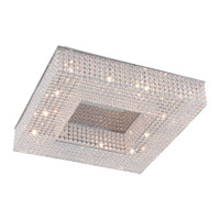 DVI Lighting Helsinki 12 Light Semi Flush Mount in Chrome with Clear Crystals DVP10703CH-CRY