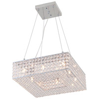 DVI Lighting Helsinki 8 Light Pendant in Chrome with Clear Crystals DVP10705CH-CRY
