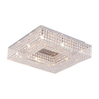 DVI Lighting Helsinki 8 Light Semi Flush Mount in Chrome with Clear Crystals DVP10712CH-CRY