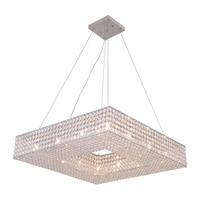 DVI Lighting Helsinki 12 Light Pendant in Chrome with Clear Crystals DVP10718CH-CRY