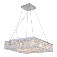DVI Lighting Helsinki 8 Light Pendant in Chrome with Clear Crystals DVP10720CH-CRY