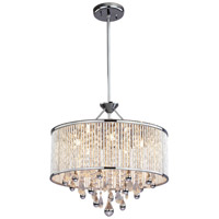 DVI Lighting Chimera 5 Light Pendant in Chrome with Clear Crystals DVP11005CH-CRY
