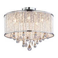DVI Lighting Chimera 5 Light Semi Flush Mount in Chrome with Clear Crystals DVP11012CH-CRY