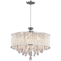 DVI Lighting Chimera 5 Light Pendant in Chrome with Clear Crystals DVP11020CH-CRY