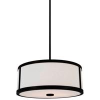 DVI Lighting Uptown 3 Light Pendant in Graphite with Opal Glass DVP1105GR-OP