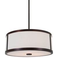 DVI Lighting Uptown 3 Light Pendant in Oil Rubbed Bronze with Opal Glass DVP1105ORB-OP