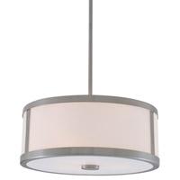 DVI Lighting Uptown 3 Light Pendant in Satin Nickel with Vanilla Glass DVP1105SN-OP
