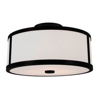 DVI Lighting Uptown 3 Light Semi Flush Mount in Graphite with Opal Glass DVP1112GR-OP