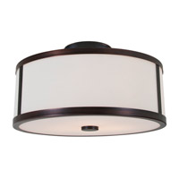 DVI Lighting Uptown 3 Light Semi Flush Mount in Oil Rubbed Bronze with Opal Glass DVP1112ORB-OP
