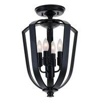 Castille 4 Light 10 inch Ebony Semi Flush Mount Ceiling Light