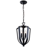 DVI Lighting Castille 4 Light Foyer Pendant in Ebony DVP11247EB