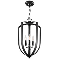DVI Lighting Castille 4 Light Foyer Pendant in Ebony DVP11248EB