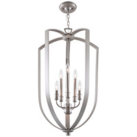DVI Lighting Castille 6 Light Foyer Pendant in Buffed Nickel DVP11249BN