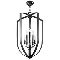 DVI Lighting Castille 6 Light Foyer Pendant in Ebony DVP11249EB