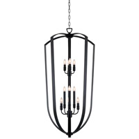 DVI Lighting Castille 10 Light Foyer Pendant in Ebony DVP11250EB