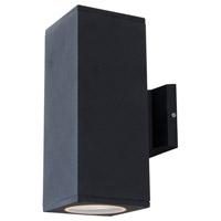 DVI Lighting Summerside 2 Light Outdoor Wall Sconce in Matte Black DVP115017BK