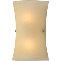 DVI Lighting Signature 2 Light Wall Sconce with Butterscotch Glass DVP1242MF-BS