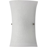Signature 2 Light 8 inch White Linen ADA Wall Sconce Wall Light in White Linen Glass