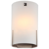 DVI Lighting Signature 2 Light Wall Sconce in Satin Nickel with Half Opal Glass DVP1342SN-OP
