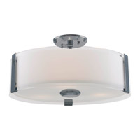 DVI Lighting Zurich 3 Light Semi Flush Mount in Black Chrome with Silk Screened Opal Glass DVP14512BC-SSOP