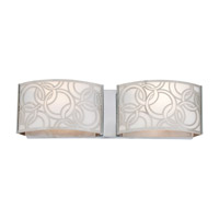 DVI DVP14722CH Woodstock 2 Light 15 inch Chrome Bathroom Vanity Wall Light