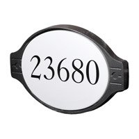 DVI Lighting Media Outdoor Engraved and Painted House Number Address Plate in Hammered Black DVP1504HB