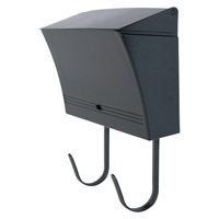 DVI Lighting Media Mailbox in Hammered Black DVP1505HB