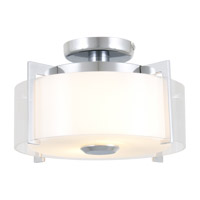 DVI Lighting Princeton 2 Light Semi Flush Mount in Chrome with Opal Glass DVP2111CH-OP