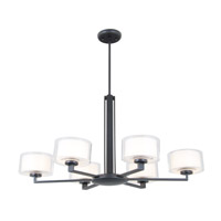 Princeton 6 Light 34 inch Graphite Chandelier Ceiling Light