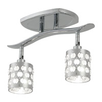DVI Lighting Moondust 2 Light Track in Chrome with Clear Optic Glass Inserts DVP2485CH-CRY