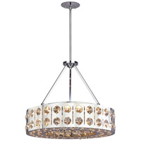 DVI Lighting Cirrus 5 Light Pendant in Chrome with Clear Optic Glass Inserts DVP2620CH-CRY